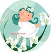 可爱小女孩0201,可爱小女孩,人物,卡通 可爱 花圈