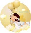 可爱小女孩0202,可爱小女孩,人物,气球 飞翔 天使