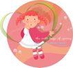 可爱小女孩0234,可爱小女孩,人物,圆形 爱心 女孩