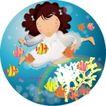 可爱小女孩0242,可爱小女孩,人物,小天使 白色裙子 游泳