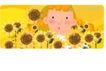 可爱小女孩0244,可爱小女孩,人物,黄色小花 惊讶