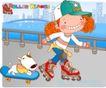 可爱胖女孩0018,可爱胖女孩,人物,溜冰鞋 滑板 宠物