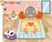 可爱胖女孩0021,可爱胖女孩,人物,儿童床 被子 暖和