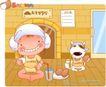 可爱胖女孩0024,可爱胖女孩,人物,鸡蛋 营养 牛奶