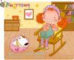 可爱胖女孩0027,可爱胖女孩,人物,头发 扎辫子 宠物