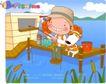 可爱胖女孩0039,可爱胖女孩,人物,钓鱼台 小红桶 那钓竿的女孩