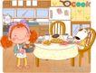 可爱胖女孩0047,可爱胖女孩,人物,饭桌 丰盛 食物