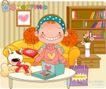 可爱胖女孩0049,可爱胖女孩,人物,书柜 休闲 生活