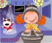 可爱胖女孩0055,可爱胖女孩,人物,聚光灯 耳机 摇滚