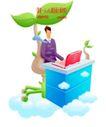 商业寓意插画0045,商业寓意插画,人物,环境 保护 工作