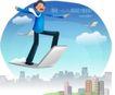 商务工作0022,商务工作,人物,笔记本 飞翔 怀抱
