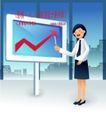 商务工作0040,商务工作,人物,红色箭头 屏幕 教师