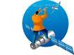商务插画0137,商务插画,人物,卫星 科技 望远镜