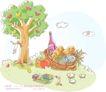 商务风景0008,商务风景,人物,水果 瓶水 野餐