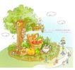 商务风景0009,商务风景,人物,树杈 小屋 栅栏