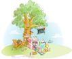 商务风景0045,商务风景,人物,大树 围绕 等待
