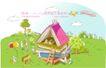 商务风景0054,商务风景,人物,搭建房屋 书本 知识海洋