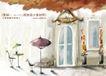 四季风景及儿童0013,四季风景及儿童,人物,咖啡厅 桌子 盆景