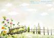 四季风景及儿童0015,四季风景及儿童,人物,篱笆 花园 杂草