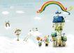 四季风景及儿童0023,四季风景及儿童,人物,彩虹 盆景 枝蔓