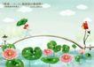 四季风景及儿童0033,四季风景及儿童,人物,露珠 拱木桥 荷塘