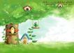 四季风景及儿童0044,四季风景及儿童,人物,树冠 鸟窝 小鸟