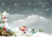 四季风景及儿童0047,四季风景及儿童,人物,圣诞 滚雪球 玩耍