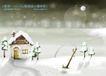 四季风景及儿童0053,四季风景及儿童,人物,月光 脚印 烟囱