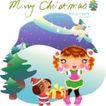 圣诞女孩0002,圣诞女孩,人物,跳舞 圣诞 女孩