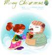 圣诞女孩0007,圣诞女孩,人物,雪人 穿戴 衣帽