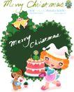 圣诞女孩0016,圣诞女孩,人物,动物 信封 围裙
