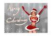 圣诞精品女孩0013,圣诞精品女孩,人物,蝴蝶结 腰带 跳舞