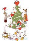 城市时尚生活0008,城市时尚生活,人物,装扮 圣诞树 悬挂