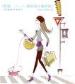 城市时尚生活0015,城市时尚生活,人物,绳子 马路 人行道