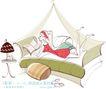 城市时尚生活0039,城市时尚生活,人物,蚊帐 被子 床