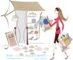 城市时尚生活0040,城市时尚生活,人物,商铺 香包 高跟鞋