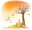 天使插画0030,天使插画,人物,树叶 凋零 枯枝