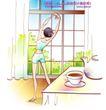 女子运动0021,女子运动,人物,背影 纤细 匀称