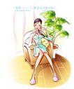 女子运动0022,女子运动,人物,苗条 盆栽 葱郁