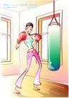 女子运动0023,女子运动,人物,力量 拳击 重拳
