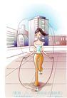 女子运动0025,女子运动,人物,跳神 健康 速度