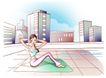 女子运动0026,女子运动,人物,频率 扭动 腰肢