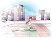 女子运动0027,女子运动,人物,女性 运动 呼吸