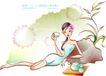 女子运动0030,女子运动,人物,茶水 饮用 跑制