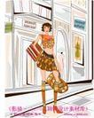 女性服饰购物0014,女性服饰购物,人物,短裙 挎包 大提包