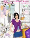 女性服饰购物0018,女性服饰购物,人物,店子 橱窗 购物