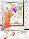 女性服饰购物0021,女性服饰购物,人物,套裙 高跟 购买
