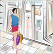 女性服饰购物0025,女性服饰购物,人物,女人 服装 步行