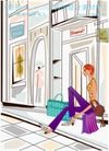 女性服饰购物0029,女性服饰购物,人物,休息 伸展 街道