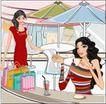女性服饰购物0040,女性服饰购物,人物,咖啡 饮料 时尚妹妹
